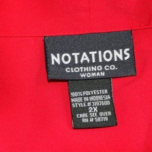 Notations Tops - NOTATIONS Stitch Accented Short Sleeve Button Up